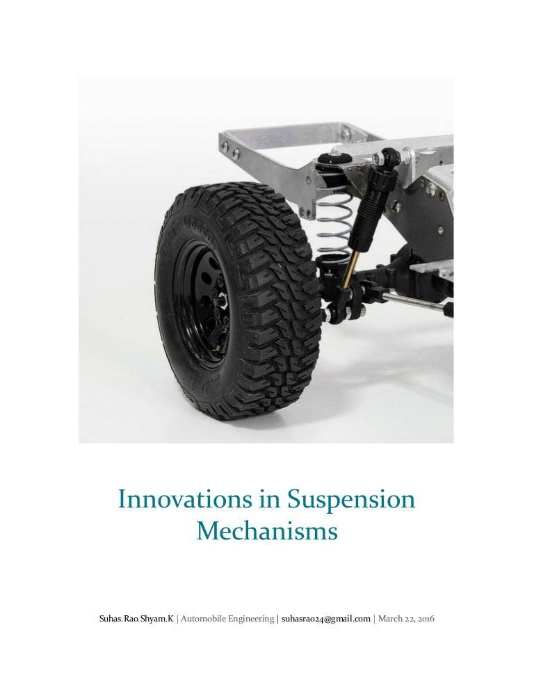 Innovations in suspension mechanisms