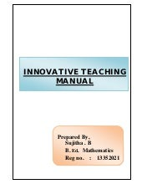 Innovative lesson lpan