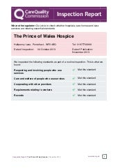 Care Quality Commission Inspection Report