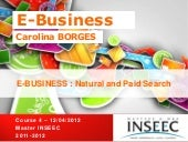 E BUSINESS course 4 - INSEEC 2011/12