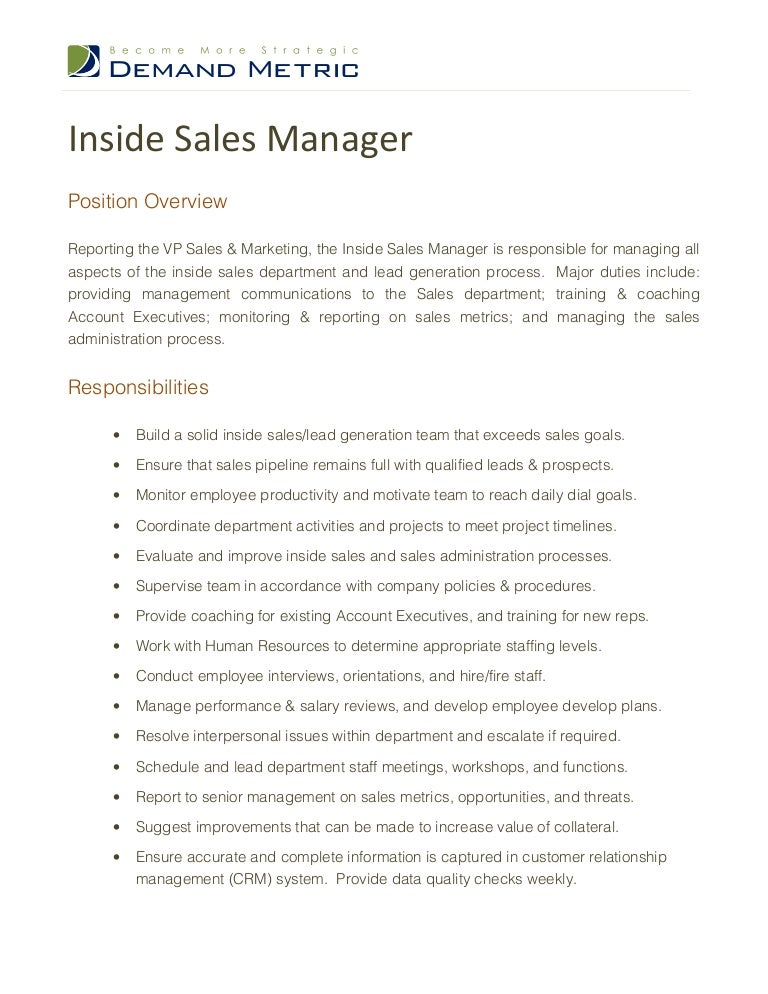 Inside Sales Rep Resume Samples - Contegri.Com