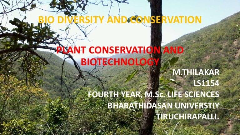 In situ and ex situ conservation
