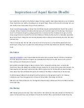 Inspirations of aqeel karim dhedhi  akd