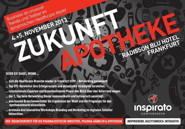 inspirato Konferenz ZUKUNFT APOTHEKE 2013 - Das Programm
