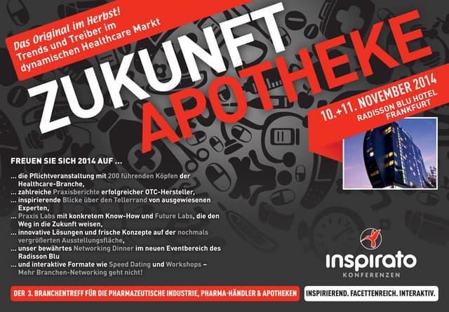 inspirato Konferenz Zukunft Apotheke 2014 - Das Programm