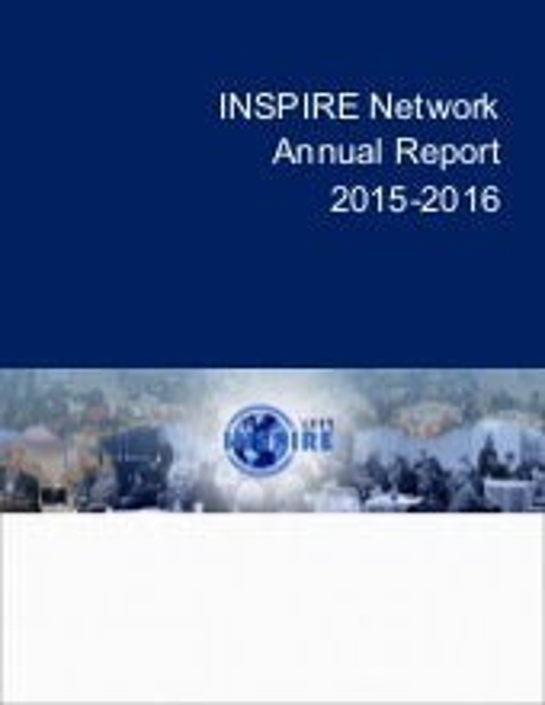 INSPIRE Annual Report 2015 - 2016
