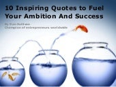 10 Inspiring Quotes to Fuel Your Ambition and Success