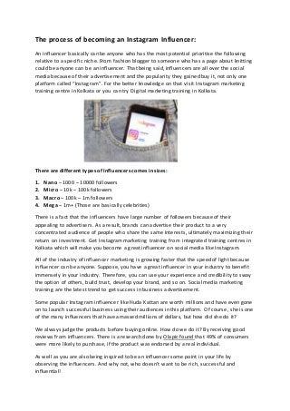 Influence of Instagram in Digital Marketing