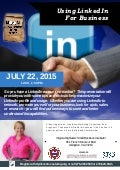 Linkedin for Business Workshop, July 22, 2015