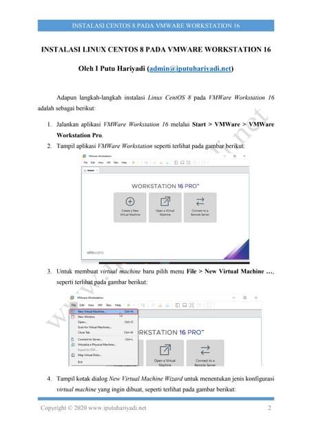 Instalasi CentOS 8 pada VMWare Workstation 16