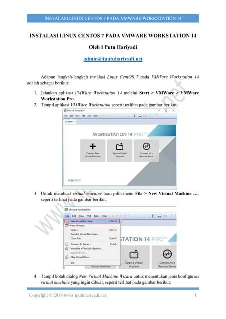 Instalasi Linux CentOS 7 pada VMWare Workstation 14