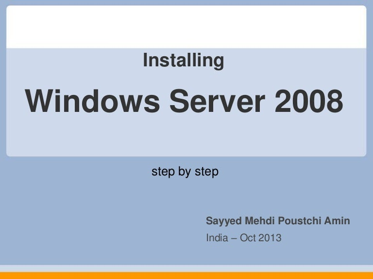 Step by step installing sharepoint 2013 on windows server 2008 r2.