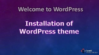 Installation of word press theme