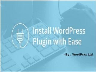 Install WordPress plugin with ease