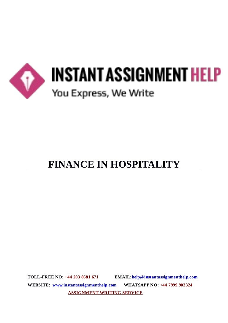 instant assignment help sample on finance in hospitality