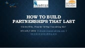How to Build Partnerships That Last: Foundation Center 06102015