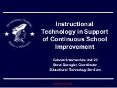 Instructional Technology in Support of Continuous School Imp