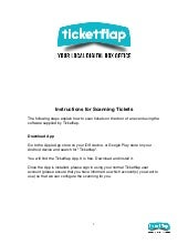 Instruction for redeeming tickets