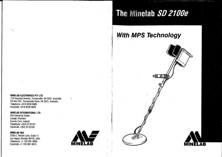 instruction manual minelab sd 2100e metal detector english language rh slideshare net Bissell PowerSteamer User Manual Instruction Manual Example