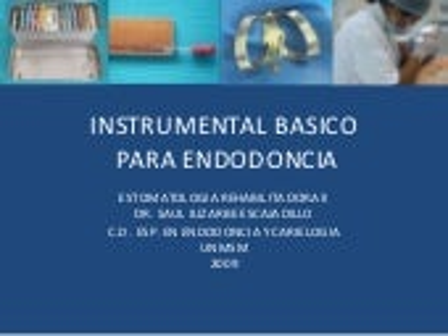 Instrumental Basico Para Endodoncia 2