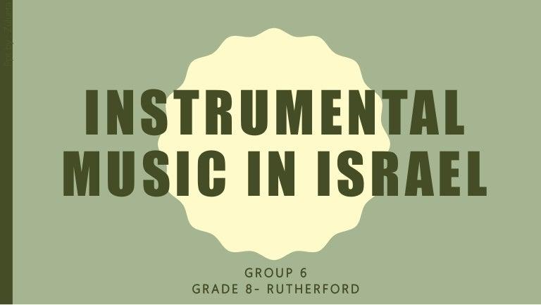 Instrumental Music In Israel