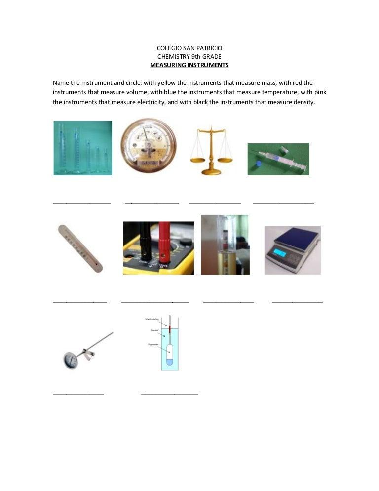 Instruments worksheet – Weather Instruments Worksheet
