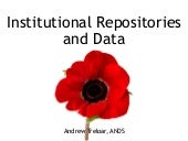 Instutional repositories and data