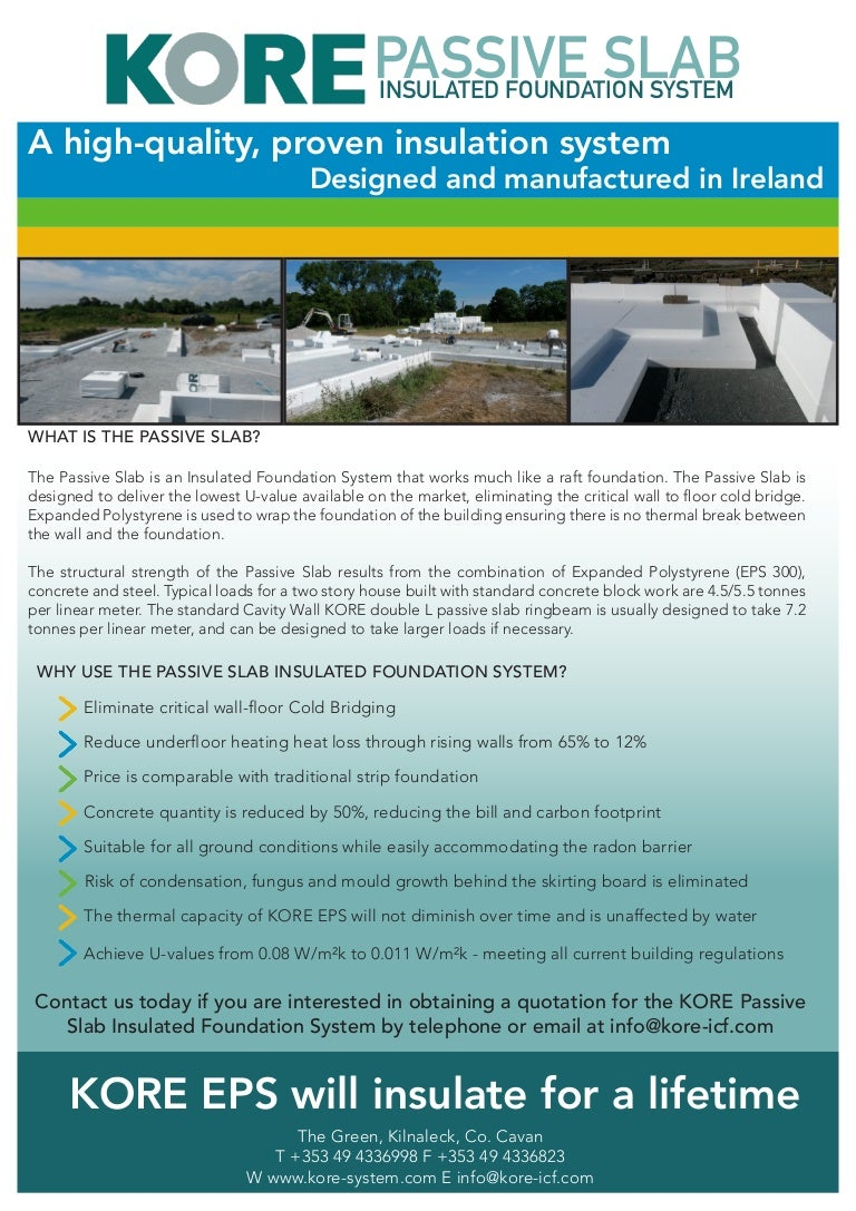 Kore Passive Slab Insulated Foundation System