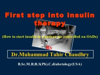 Insulin Therapy in DM