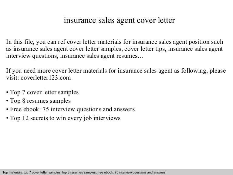 insurance agent cover letter samples