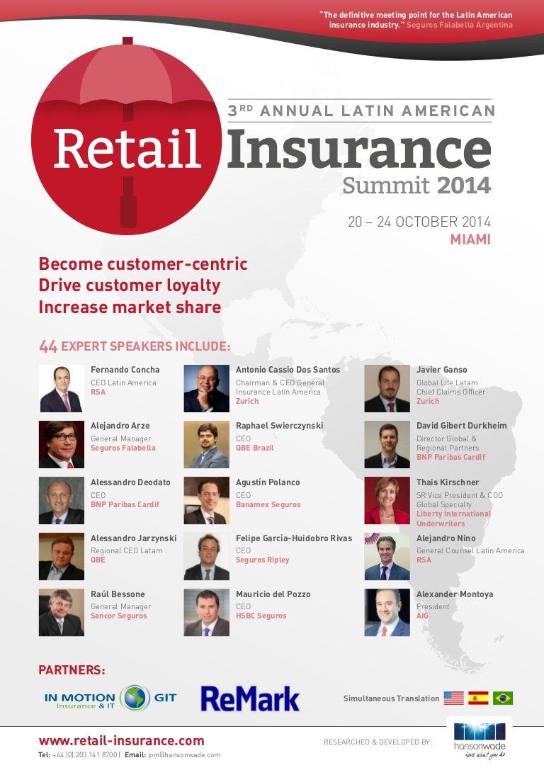 3rd Annual Latin American Insurance Summit 2014