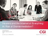 Insurers and the Internet of Everything: at risk of disintermediation?