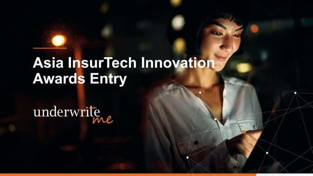 The Digital Innovation Award - UnderwriteMe