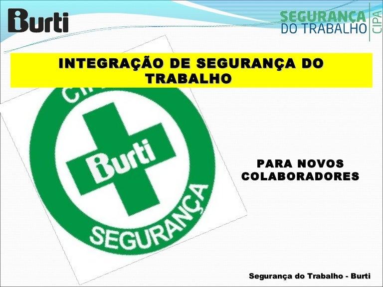 435ff52ee5005 Integração de Segurança do Trabalho 2012