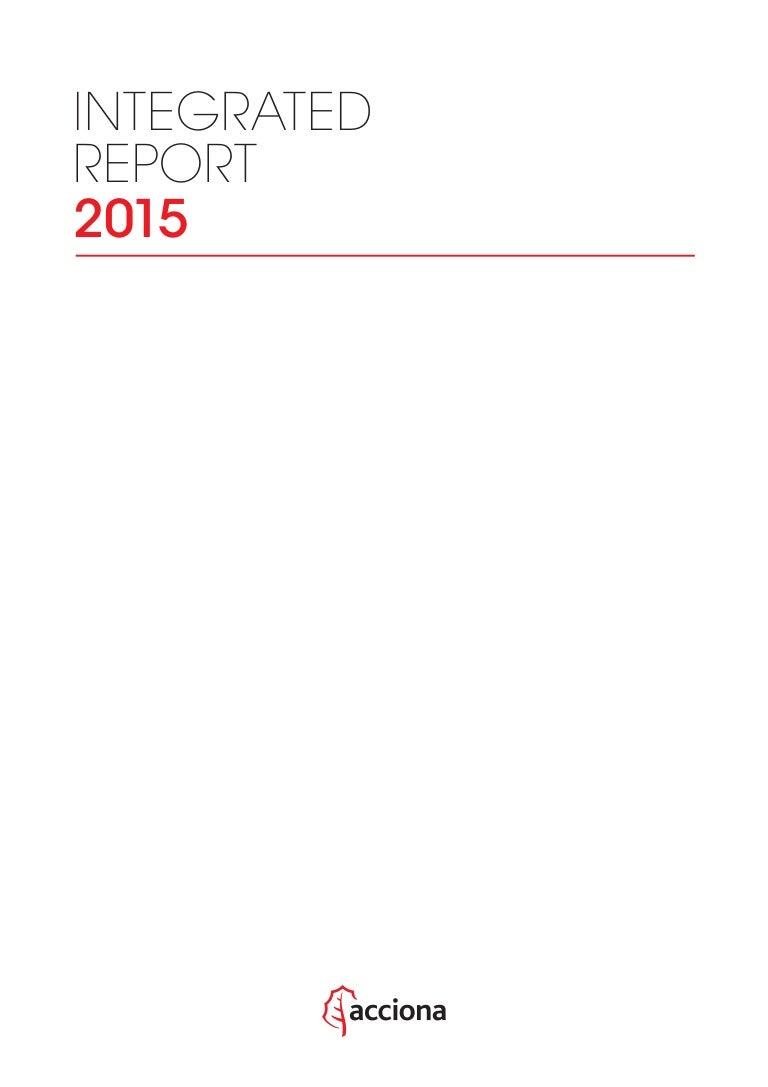 ACCIONA - Integrated Report 2015