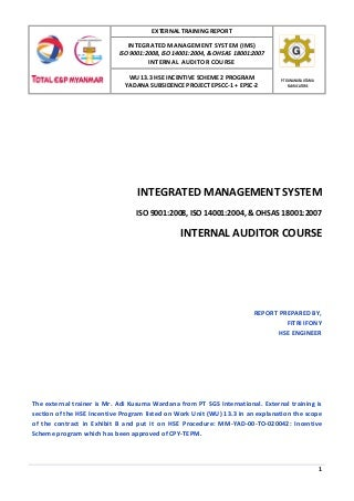 Integrated management system training