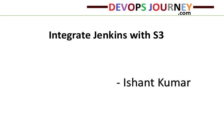 Integrate Jenkins with S3