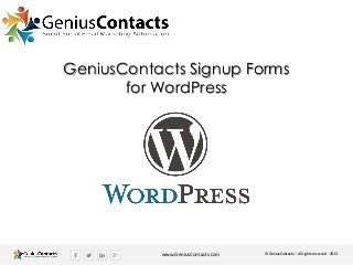 Integrating subscription signup forms with WordPress manually copying and pasting your form html
