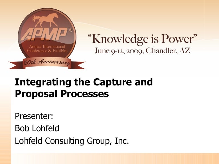 Integrating The Capture And Proposal Management Processes In Business