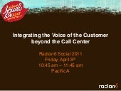 Integrating the Voice of the Customer