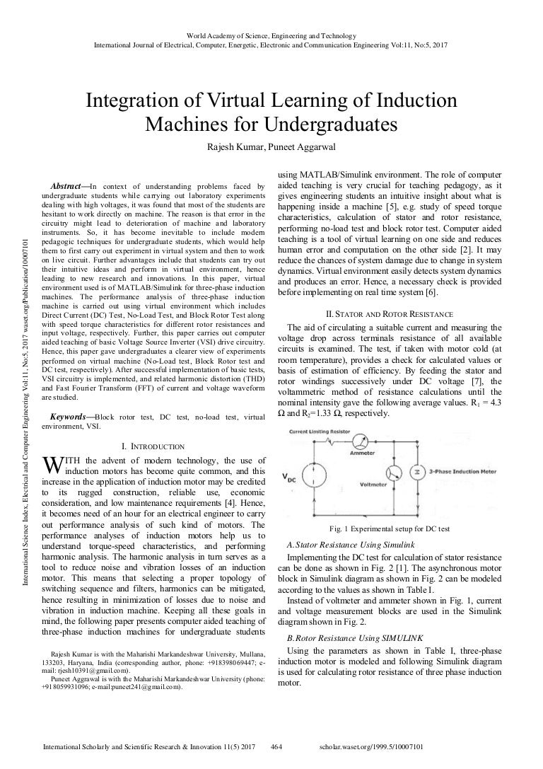Integration Of Virtual Learning Induction Machines For Undergradua Dc Motor Stepless Speed Governor Circuit Basiccircuit