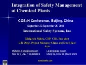 Integration of safety management at Chemical plants - Beijing, China