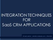 Integration techniques for SaaS CRM applications