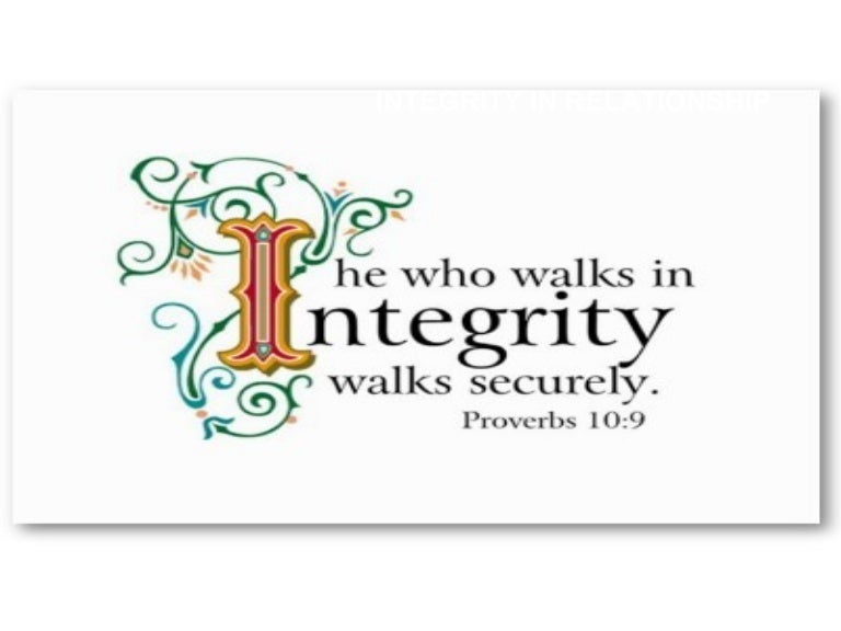 Integrity in Relationship