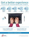 A better experience through performance: Intel Core i5 & Core i3 processor-powered Lenovo Ultrabooks - Infographic