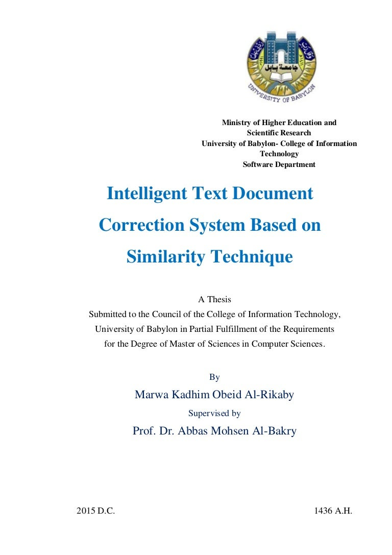 Intelligent text document correction system based on similarity techn biocorpaavc Gallery