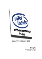 eMarketing Plan for Intel Spain (200)