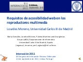 Requisitos de accesibilidad web en los reproductores multimedia