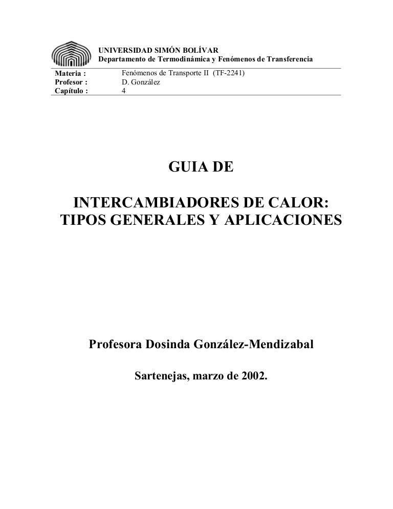 Intercambiadores de-calor-tipos-generales-y-aplicaciones