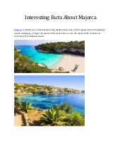Interesting facts about Majorca